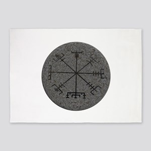 viking compass 5'x7'Area Rug