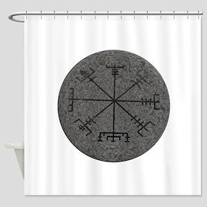 viking compass Shower Curtain