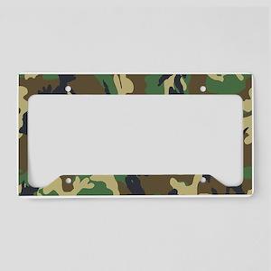 Woodland Camouflage License Plate Holder