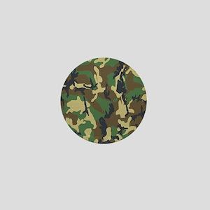 Woodland Camouflage Mini Button