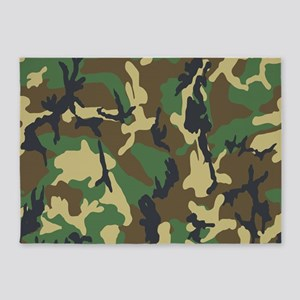 Woodland Camouflage 5'x7'Area Rug