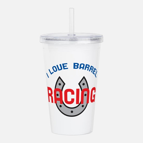 LOVE BARREL RACING Acrylic Double-wall Tumbler