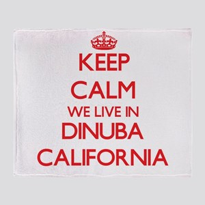 Keep calm we live in Dinuba Californ Throw Blanket