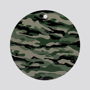 Army Camouflage Ornament (Round)