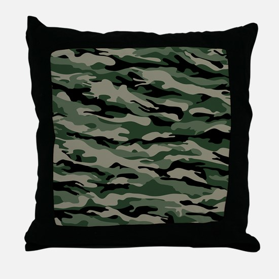 Army Camouflage Throw Pillow