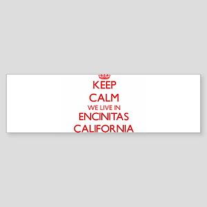Keep calm we live in Encinitas Cali Bumper Sticker