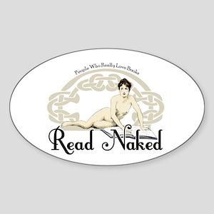Read Naked Oval Sticker
