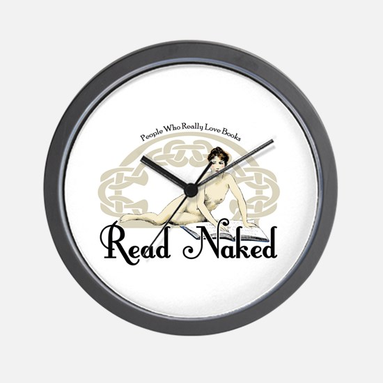 Read Naked Wall Clock