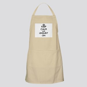 Keep Calm and Linguist ON Apron