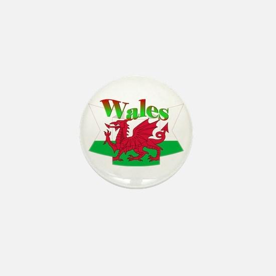 Welsh decorative ribbon Mini Button