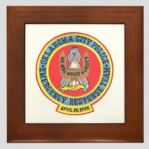 OKC Police Emergency Response Framed Tile