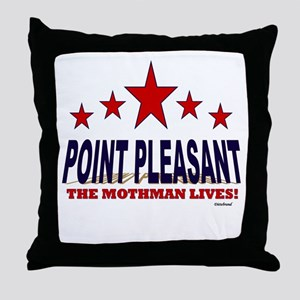Point Pleasant The Mothman Lives Throw Pillow
