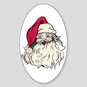 Old Fashioned Santa Claus Oval Sticker