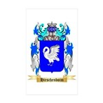 Hirschenboim Sticker (Rectangle 50 pk)