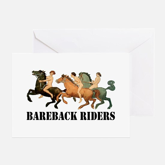 BAREBACK RIDERS Greeting Cards