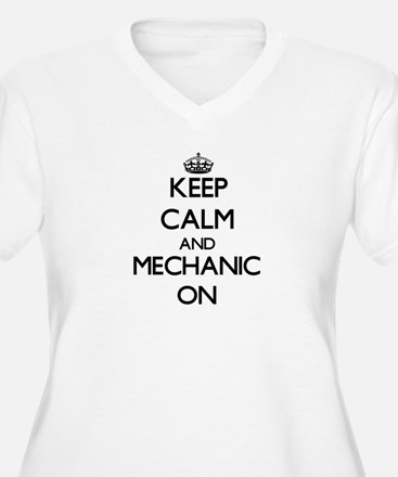 Keep Calm and Mechanic ON Plus Size T-Shirt
