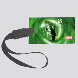 Iron Fist Green Painting Large Luggage Tag