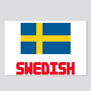 Swedish Flag Design Postcards (Package of 8)