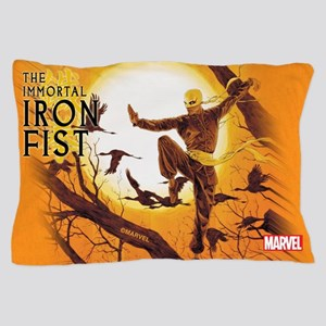 Iron Fist Green Painting Pillow Case
