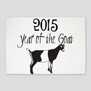 Year of the Goat LaMancha 5'x7'Area Rug