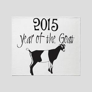 Year of the Goat LaMancha Throw Blanket