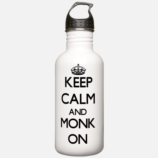 Keep Calm and Monk ON Water Bottle