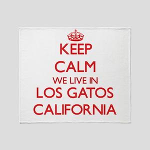 Keep calm we live in Los Gatos Calif Throw Blanket