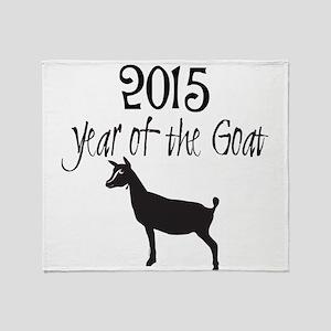 Year of the Goat Nigerian Dwarf Throw Blanket