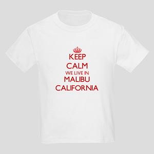 Keep calm we live in Malibu California T-Shirt