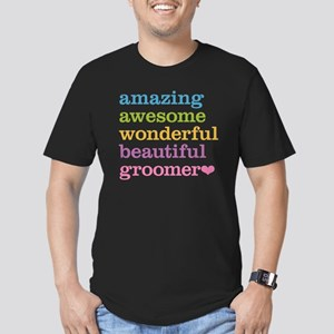 Awesome Groomer Men's Fitted T-Shirt (dark)
