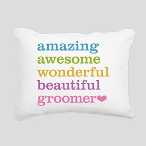 Awesome Groomer Rectangular Canvas Pillow