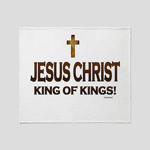 Jesus Christ King of Kings Throw Blanket