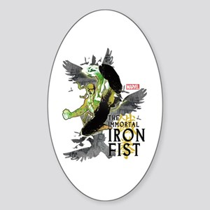 Iron Fist Birds Sticker (Oval)