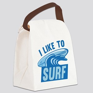 I Like To Surf Canvas Lunch Bag
