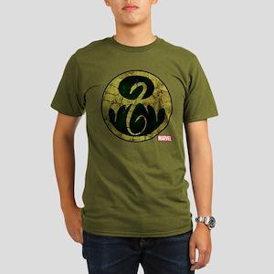 Iron Fist Icon Distre Organic Men's T-Shirt (dark)