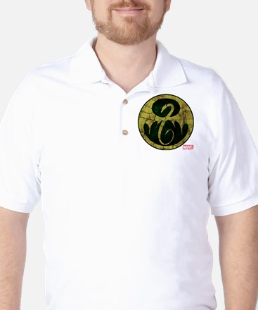 Iron Fist Icon Distressed Golf Shirt