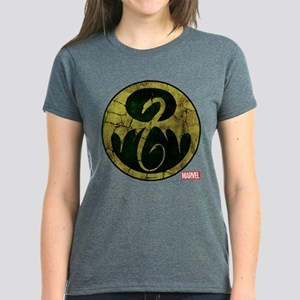 Iron Fist Icon Distressed Women's Dark T-Shirt