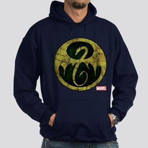 Iron Fist Icon Distressed Hoodie (dark)