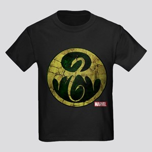Iron Fist Icon Distressed Kids Dark T-Shirt