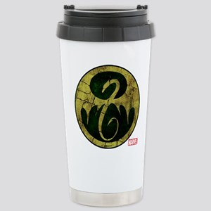 Iron Fist Icon Distress Stainless Steel Travel Mug