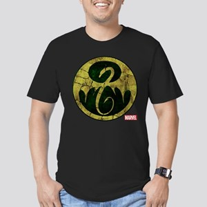 Iron Fist Icon Distres Men's Fitted T-Shirt (dark)