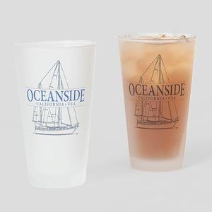 Oceanside CA - Drinking Glass