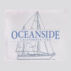 Oceanside CA - Throw Blanket