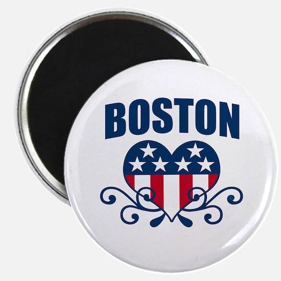 Boston Stars and Stripes Hea Magnet