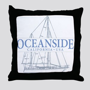 Oceanside CA - Throw Pillow