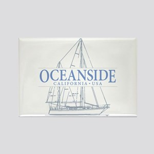 Oceanside CA - Rectangle Magnet