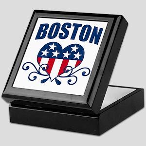 Boston Stars and Stripes Hea Keepsake Box