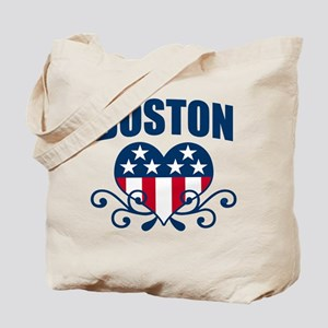 Boston  Stars and Stripes Hea Tote Bag