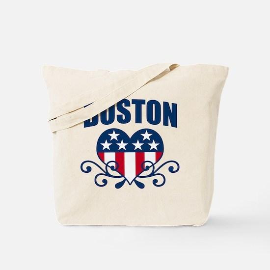 Boston  Stars and Stripes Hea Tote Bag