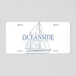 Oceanside CA - Aluminum License Plate